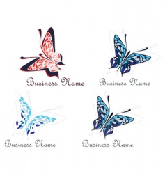 Butterfly business logo vector
