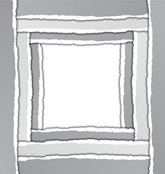 Torn paper border vector