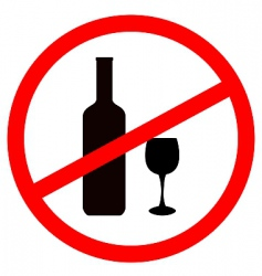 Stop alcohol vector