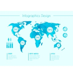 World map infographic template vector
