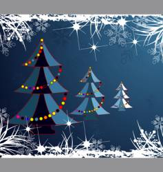 Abstract christmas decoration trees vector