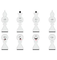 Cartoon chess set 02 vector