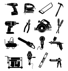 Industrial tools icons set vector