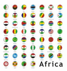 Africa round flags vector