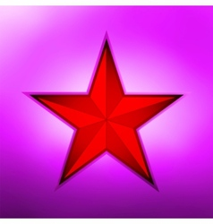 Red metallic star on a purple background eps 8 vector