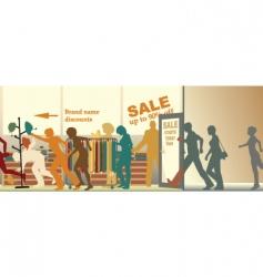 Sale opens vector