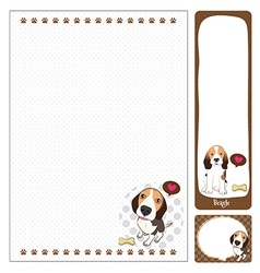 Paper note beagle vector