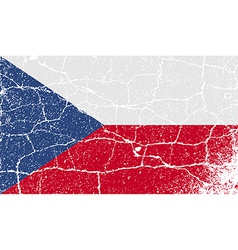 Flag of czech republic with old texture vector