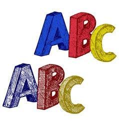 Alphabet with abc vector