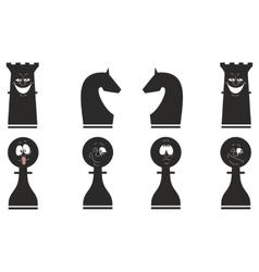 Cartoon chess set 03 vector