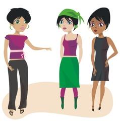 Talking girls vector