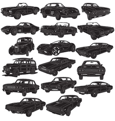 Cars package detailed vector