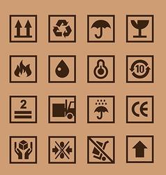 Cardboard icon vector