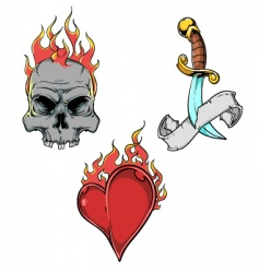 Tattoo elements vector
