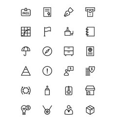Business and finance line icons 4 vector