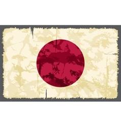 Japanese grunge flag vector