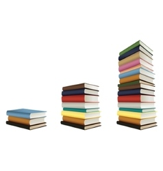 Stacks of books vector