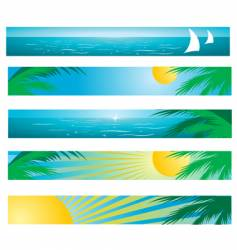 Tropical background banners vector
