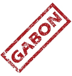 New gabon rubber stamp vector