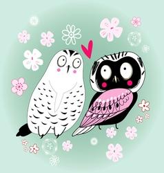 Love owls vector