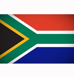 National flag of south africa vector