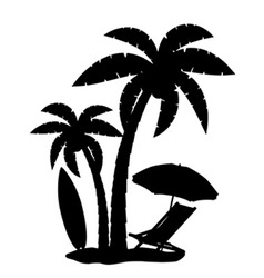Silhouette of palm trees vector