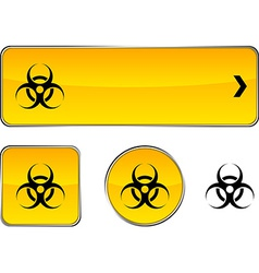 Virus button set vector