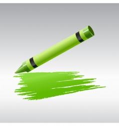 Green crayon vector