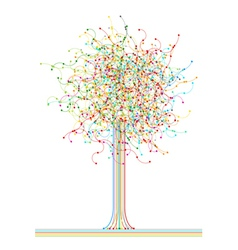 Colored abstract network tree vector