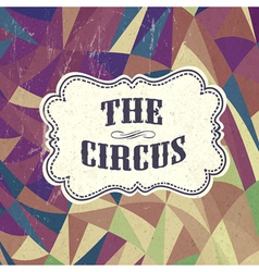Retro circus background vector