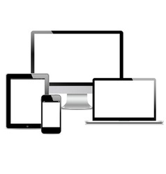 Modern digital devices vector