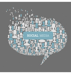 Social speech bubbles vector