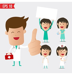 Medical doctor cartoon set - - eps10 vector