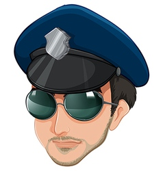 A police officers head vector