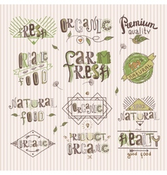 Natural food label vector
