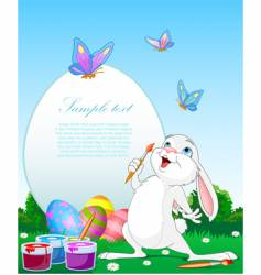 Paint bunny vector