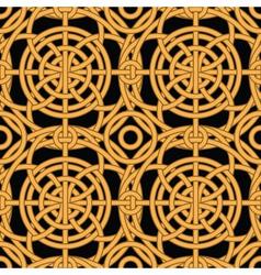 Ethnic golden pattern vector
