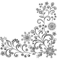 Floral contour background vector