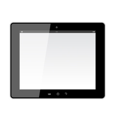 Realistic tablet pc with blank screen vector