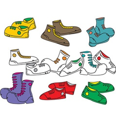 Shoe design vector