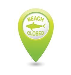 Shark sighting sign on green map pointer vector