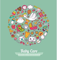 Baby care vector