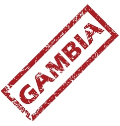 New gambia rubber stamp vector