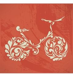 Abstract floral bike vector
