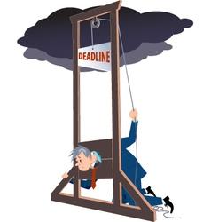 Under a deadline vector