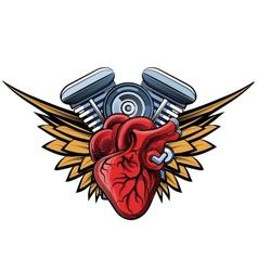 Engine tatoo label vector