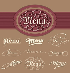 Menu headlines vector