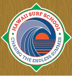 Classic surf logo vector