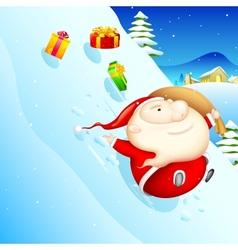 Sliding santa vector