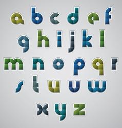 Geometric modern style digital letters alphabet vector